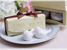 Wholesale wedding favors and gift Love Birds Salt and Pepper Shaker Party favors SET