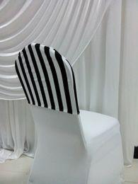 black and white stripe print spandex sleeve cover lycra cover - Black And White Striped Chair