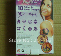 Wholesale Shimmer Glitter Tattoos Body Art Kit Waterproof Professional