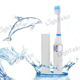 Wholesale White Fashionable Ultrasonic Electric Toothbrush Teeth Brush with Rechargeable Brush Heads For Kids and Adult