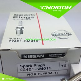 Комплект (4) Свеча зажигания NGK PLFR5A-11 22401-5M015 NGK двойная платиновая свеча зажигания PLFR5A-11 для Nissan