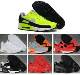 Discount shoes run air max High Quality air Sport Cushion Max 90 Women Men Running Shoes New Running Sneakers 90 Hyperfuse American Flag Sport Trainers SHOES
