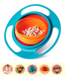 Wholesale Funny Baby Not inverted Bowl Rotate Spill Proof Dishes Kid Feeding Toy Children Pratos Learning Training Tableware