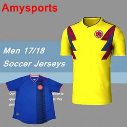 2017 custom wholesale football jerseys DHL-2018 Colombia home yellow soccer  jersey 17 18 Custom  Wholesale Men s ... f5240d7e0
