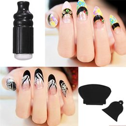 Wholesale Top Seller Nail Art Templates Kits Manicure Tool Polish Image Stamper Paint Stamp Scraper Stamping Plastic ID10