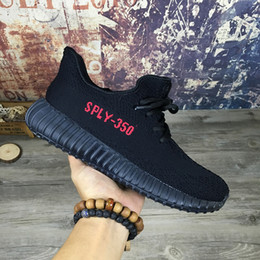 Mens Adidas Yeezy Boost 350 v2 Core Black / Red BY 9612 Cheap
