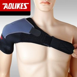 Wholesale Adjustable Breathable Shoulder Support Single Shoulder Protector Brace Strap Belt Sports Injury Prevention Back Support