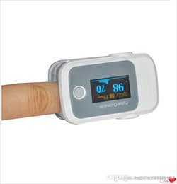 Wholesale PO10005B41 with Pulse Sound Audio Alarm OLED Fingertip oxymeter spo2 PR monitor Blood Oxygen Pulse Oximeter Freeshipping grey
