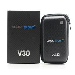 Wholesale Authentic Vaporisateur Vapor Tempête V30 Kit W VW Mod Kits E Kits de cigarettes CE réservoir atomiseur Fasion Ecigs