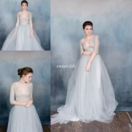Discount Dusty Blue Wedding Dresses   2017 Dusty Blue Wedding ...