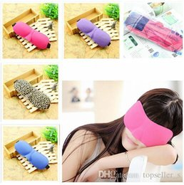Wholesale 6 STYLES Trave Sleep mask Rest D Sponge EyeShade Sleeping Eye Mask Cover Patch Blinder for health care eye mask for sleeping R001011