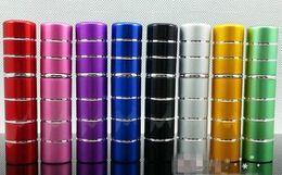 Wholesale 5ml pump stitching Glass Perfume bottle Atomizer Anodized Aluminum Empty glass Travel Refillable Spray