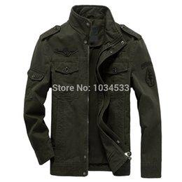 Wholesale Otoño colores Military Style división aerotransportada alemana Fuerza Aérea Piloto chaqueta del ejército Escudo del bombardero caliente