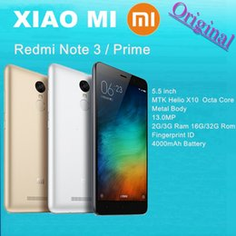 "2017 chinese metal body phone Original Xiaomi 5.5"" Redmi Note 3 Metal Body Fingerprint ID Mobile Phone MTK Helio X10 Octa Core 2GB   3GB RAM 16GB   32GB ROM 13MP 4G FDD"