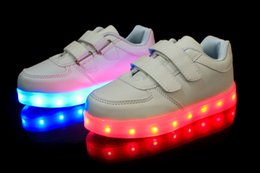 Wholesale 2016 Boys Shoes Kid Classic LED Light Boys Sneaker Shoes Breathable Sports Shoes Lace up led boy
