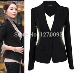 Discount Short Black Blazers For Women | 2017 Short Black Blazers ...