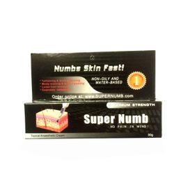 Wholesale 6pcs g SUPER NUMB Cream Tattoo Body Piercing Waxing Laser Anesthetic Tattoo power machine Gun ink needles supplies