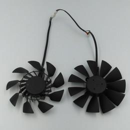 Новый оригинальный EVERFLOW T129215SU DC 12V 0.5A VGA-карта Вентилятор охлаждения для графической карты ASUS GTX780 GTX780TI R9 280 290 R9 280X 290X