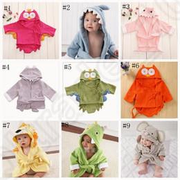 Дети животных Халат малышей мальчика девушки младенца мультфильм Pattern полотенце с капюшоном полотенце ванны Терри Wrap Ванна Одеяния 18 стилей OOA758 100шт