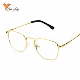 wholesale 2016 new men woman glasses mens optical frames clear lens eyeware square black brown silver gold glasses frame p023