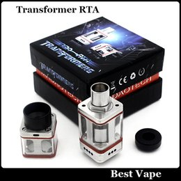 Wholesale Big Vaporizer Transformers RTA Atomizer Tank Acier inoxydable Carré Verre Tube Fit E Cigarette Mod VS Kayfun Monster V3 Smok TFV4