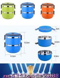 НОВЫЕ два слоя Термические Bento Lunch Box Термос еды из нержавеющей стали Изоляция хранения пищевых контейнеров Посуда sets1400ML MYY