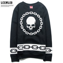 Wholesale BBC thick round neck sweater Print Black Mens Autumn Sweatshirt Man Novelty Punk Rock Pullover Male Clothes For Men Women Emoji Logo