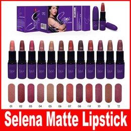 Coleção Selena NOVA Selena Coleção MATTE LIPSTICK Maquiagem Cosméticos Hermeticos Bonitos 12 Cor Frete Grátis 12Pcs