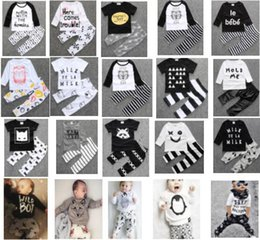 Wholesale 3 sets Fashion Baby boy Girl Clothing suits Children Clothing Set Newborn Baby Clothes Cotton Baby set szie70