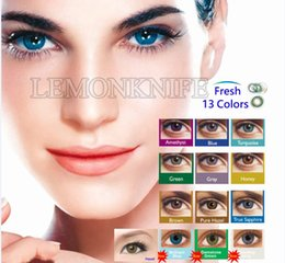 Wholesale Best quality get free colors contact lens pairs Fresh color Contact lenses color contact lens Tones contact lens
