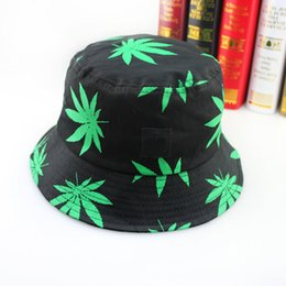 Wholesale New children Fashion Brand Maple leaf pattern Caps Cool fisherman hat Bucket hats For Men Women C693