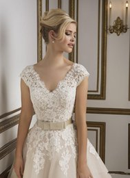 1950s vintage v neckline lace tulle tea length ball gown women wedding dresses 2016 new designer cap sleeves short bridal gowns informal