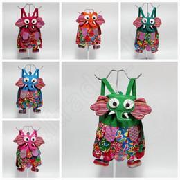 Étnica estilo forma animal crianças Mochila crianças do elefante Bolsas crianças meninas da escola Moda Bolsas coloridas Bag 10 cores QQA293