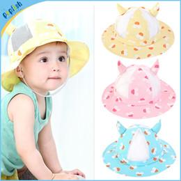 Wholesale New Stylish Cotton Mesh Kids Hat Summer Funny Eel Wear months Colors Children Bucket Hat