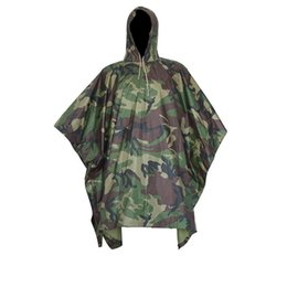 Tactical Airsoft Sniper Chasse Realtree Adulte Non Transparent PVC pluie Poncho vélo Camping randonnée en plastique Raincoat de Mat Tente