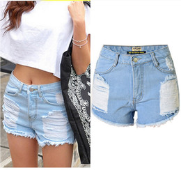 Discount Jeans Hot Shorts Women | 2017 Hot Women Blue Jeans Shorts ...