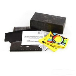 Wholesale Sports glasses box Suglass Case with paper box cloth bag two colors fit for OKL sunglasses