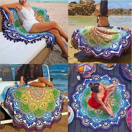 4 Designs New Designer Mandala Tapestry Indian Wall Hanging Beach Throw Towel With Tassel Yoga Mat Polyester Printed Blanket Cca4998 50pcs