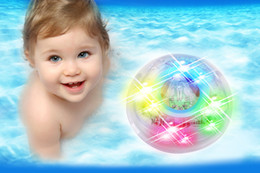 Hot Sale Baby Bath Bathing Funny Plasma Ball LED Flashing Toy Rubber Multi Color Change Flashing Light fast shipping by worldfactory from baby changing bath suppliers