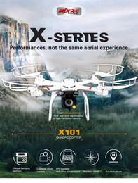 2016 Profession Drones MJX X101 Quadcopter 2.4G 6-Axis Hélicoptère RC avec Gimbal avec caméra 720p C4018 FPV Wifi HD VS SYMA X8c X600