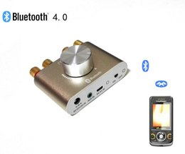 ertains Audio Vidéo Equipements Amplificateurs avec adaptateur secteur 2 * 30W puissant Mini Bluetooth 4.0 Amplificateur audio sans fil Player Phone / Comp ...