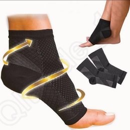 Pied Ange Anti Fatigue Pied Compression Manche Chaussettes De Sport Circulation Cheville Gonflement Relief Extérieur Running Cycle Baskets Chaussettes OOA496