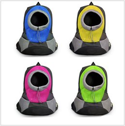 Pet Carrier Dog Carrier Pet Backpack Bag Bolsa de viagem portátil Pet Dog Front Bag Malha Backpack Head Out Ombro Duplo Exterior