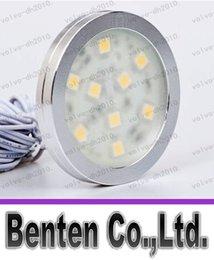 Las ventas calientes 12VDC LED bajo luz del gabinete de 1.8W 9pcs SMD5050 llevó la luz del gabinete del puck para la cocina y el gabinete LLFA216 decoración