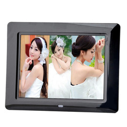 2017 best digital frames new fashion 8 inch mini digital photo frame sd card photo music