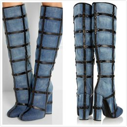 Discount Long Suede Blue Boots | 2017 Long Suede Blue Boots on ...