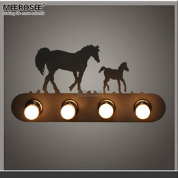 modern metal wall lamp creative horse wall sconces light fixture for staircase hallway living room bedroom fast shipping md81721 horse light bedroom deals