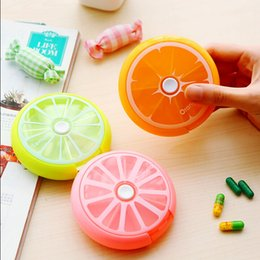 Wholesale N57 Kawaii Cute Fruit Portable Pill Medicine Travel Outdoor Case Storage Splitters Box Jewelry Display Cosmetic Makeup Organizer