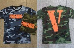 Wholesale Vente en gros Vlone d été pour la vague de savoir vienne lettre grande impression de V ASAP T shirt court de roche de t shirt de douille