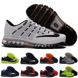 2016 Shoes Run Air Max Wholesale 2016 Running Shoes Men Sneakers For Sale High Quality air Discount Walking KPU NM Blue Max Sports Shoes Kids Size 7-12 affordable Shoes Run Air Max